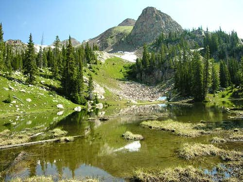 "Unnamed Lakes below ""Zodiac..."