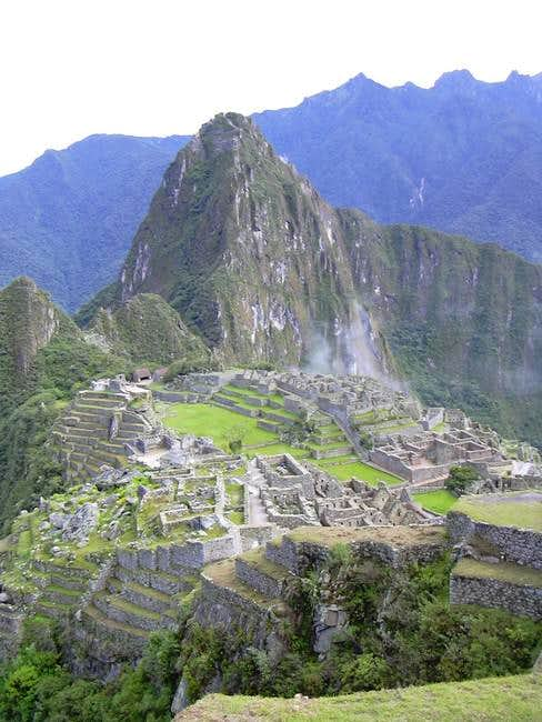 The site of Machu Picchu in...