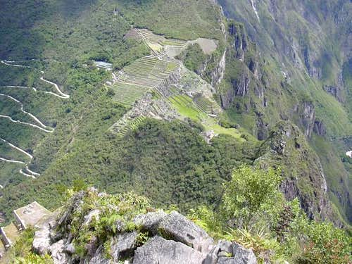 Machu Picchu as seen from above