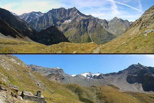 Panoramic views of Vallone di Entrelor