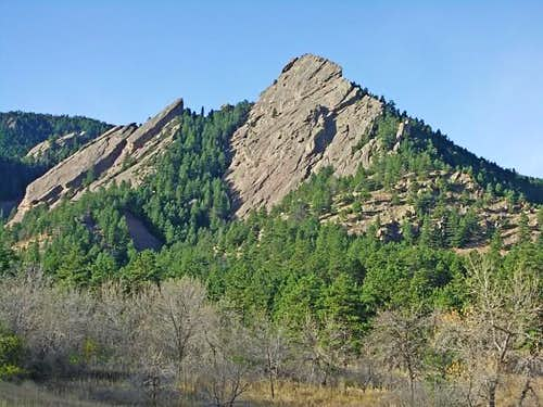 East Faces of the First and Second Flatirons
