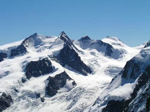Monte Rosa with Nordend,...