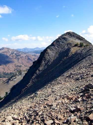 Hiram Peak's summit. Go left...