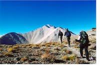 Joe , Reese , and Doug hiking...