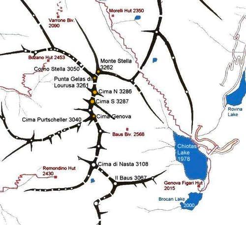 Serra dell'Argentera - Map