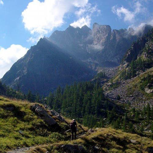 From the way to Varrone hut,...