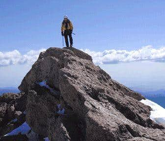 Near-knife edge summit of...