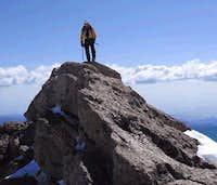 Near-knife edge summit of...