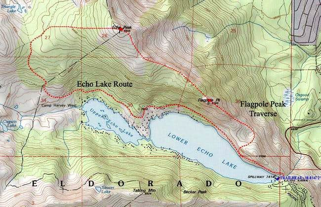 Topo of Echo Lake and...