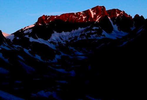 Castle Mountain at sunrise...