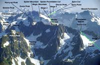 Ptarmigan Traverse overview from Sahale Peak