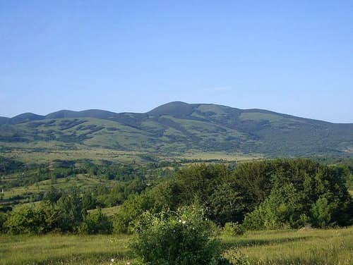View of Ozeblin from south...