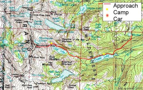 Map of Mission Mountains...
