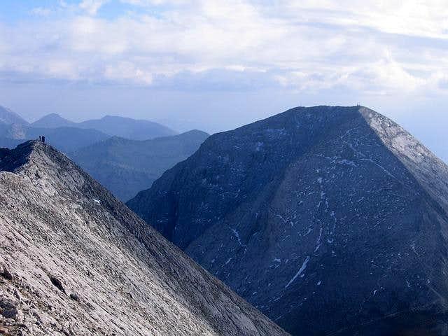 Vihren (2914 m) and people...