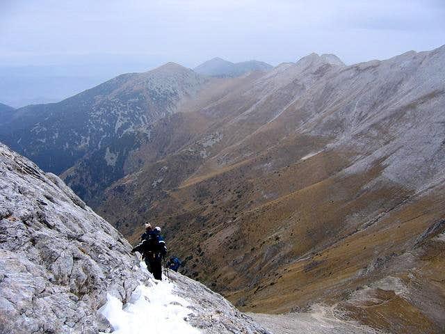 Descend from Vihren (2914 m)...