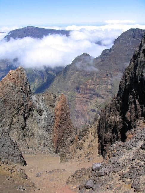 view from the top of Piton...