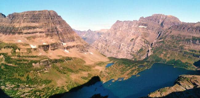 Looking down on Hidden Lake...