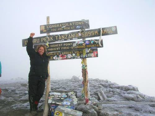 me at uhuru peak - it was...