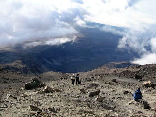 descending to barafu high...