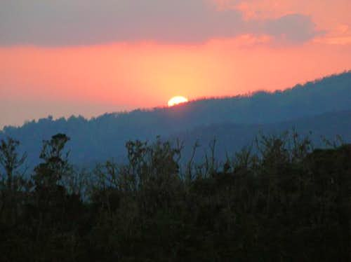 sunset from camp 1 on machame...