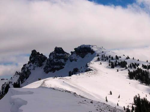 castle peak - view from ridge...