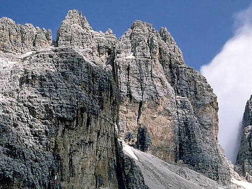 Cima Molveno SW face from...
