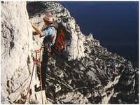 rock climbing in a nice...