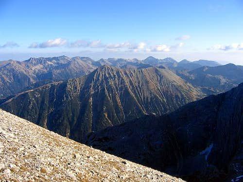 Kutelo (2908 m) E summit...
