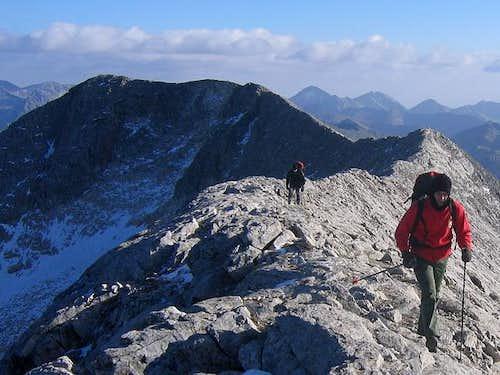 On Koncheto Ridge (2850 m)...