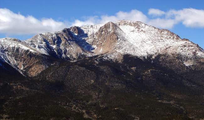Close up of Pikes Peak from...