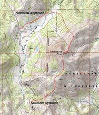 Topo map of northern and...