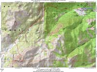 Topo map of approach from...