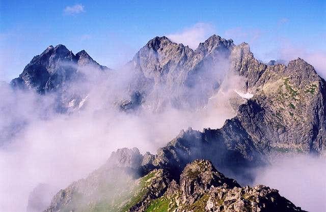 Vysoka, Rysy and Niznie Rysy - High Tatras