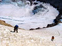 Climbers on the Cooper Spur...