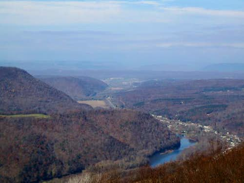A view from overlook below...