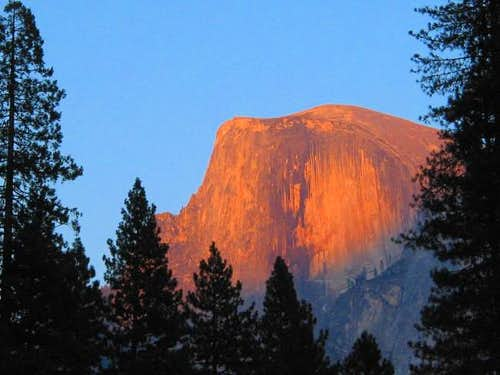 Half Dome at Sunset...