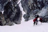 G Parker on upper slopesabove...