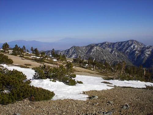 View of Cucamonga Peak (far...