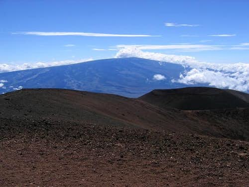 View from the summit of Mauna...
