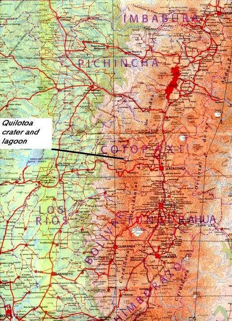 Map of Ecuadorian Sierra,...