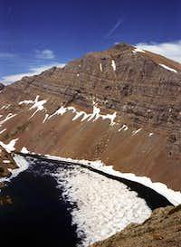 Holland Peak rises above the...