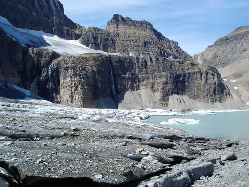Grinnell Glacier on the lower...