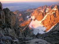 Alpenglow on the Tetons,...