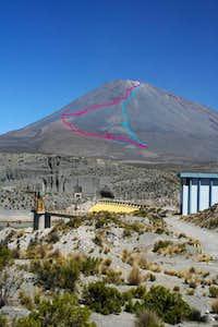Aguada Blana dam with the...