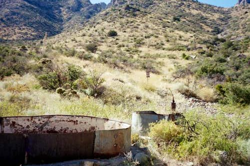The water tanks at the end of...