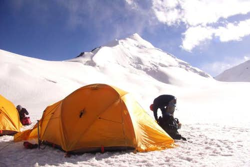 Sonia Peak advance base camp 2