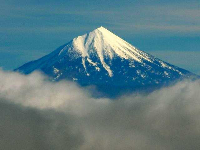 Mount McLoughlin through the...