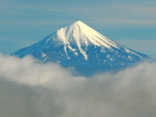 Mount McLoughlin through the...