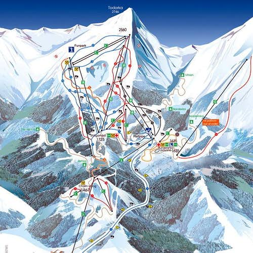 Map of Bansko ski...