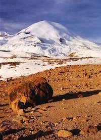 Nevado Coropuna from base...